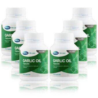 Mega We Care Garlic Oil 100เม็ด x ( 6กระปุก) น้ำมันกระเทียม