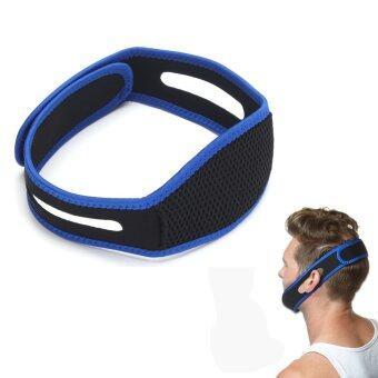 ป้องกันการนอนกรนกรน AntiSnore กรามยึดอุปกรณ์รองรับปัญหาคางรัดหยุด (สีน้ำเงิน)