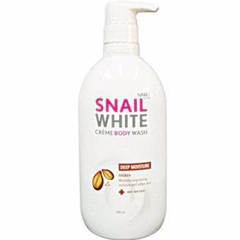 Snail White Cream Body Wash ครีมอาบน้ำสูตร DEEP MOISTURE (Baobab)ผิวนุ่มชุ่มชื้น 1ขวด (500 ml)