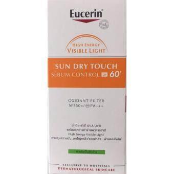 (1 ขวด x 20 ML.) EUCERIN SUN DRY TOUCH SEBUM CONTROL DP 60+++ spectraban sunscreen กันแดด ยูเซอริน ซัน ดราย ทัช ซีบุ้ม คอนโทรล ดีพี 60+++ เอสพีเอฟ 60+++ 20 มล.