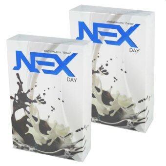 Kudson Exday NEXday เน็กซ์เดย์ Nex day ช็อคโกแลต (Ex day เอ็กซ์เดย์) ลดน้ำหนัก ช่วยให้อิ่มเร็ว เผาผลาญไว (10 ซอง) 2 กล่อง