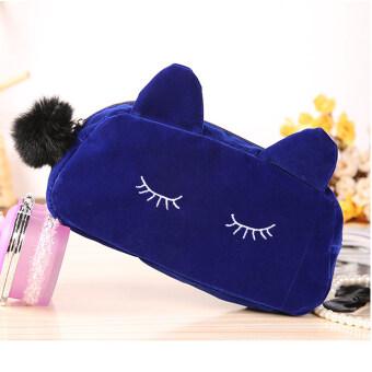 กระเป๋าถือออแกไนเซอร์ใส่เครื่องเขียนมีซิปแฟชั่น สีRoyal blue