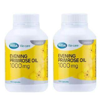 Mega We Care Evening Primrose Oil EPO 1000mg 100เม็ด(2ขวด)