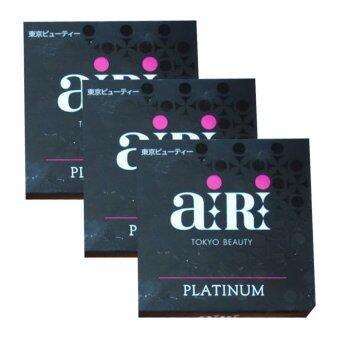 AIRI Platinum Japanese Pressed Puff Powder SPF 10 PA++ตลับดำ สูตรเน้นการปกปิด#02 (3ตลับ)