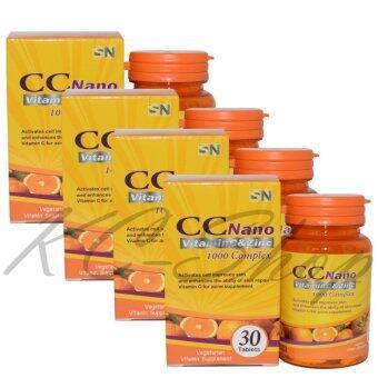 CC Nano Vitamin C & Zinc 1000 Complex 30 เม็ด x 4กระปุก