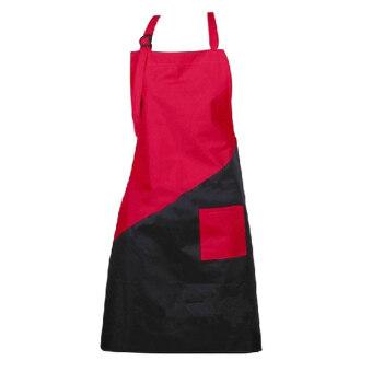 ช่างตัดผ้ากันน้ำผ้าผมคลุมผมเสริมสวยตัดผมทรงเสื้อคลุมสไตล์ผ้าสีแดง+สีดำ