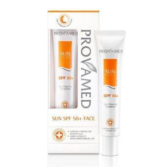 Provamed Sun SPF 50+ ครีมกันแดด 30 ml. สีขาว x 1 หลอด