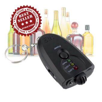 Elit เครื่องวัดแอลกอฮอล์ แบบพวงกุญแจ พร้อมไฟฉาย Breath Alcohol Tester (Black)