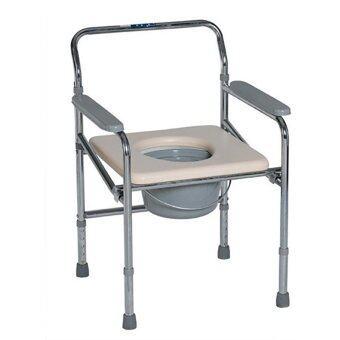 KT เก้าอี้นั่งถ่ายเหล็กชุบโครเมียม