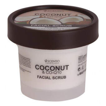 Scentio Coconut &Co-Q10 Facial Scrub สครับขัดผิวหน้าน้ำมันมะพร้าว