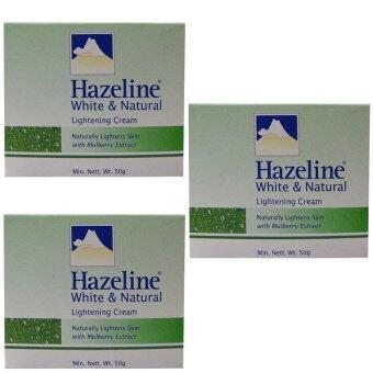 Hazeline Snowเฮสลีน สโนว์White & Natural Lightening Cream (50g.)แพ็ค3