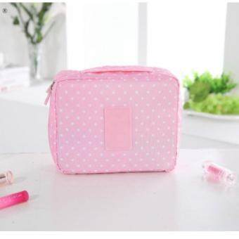 Asia กระเป๋าจัดระเบียบใส่เครื่องสำอางค์ ลาย Dot Pink