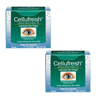 Cellufresh น้ำตาเทียม Lubricant & Eye Drops 0.4 ml. x 2 กล่อง