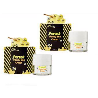 B'Secret Forest Honey Bee cream ครีมน้ำผึ้งป่า ครีมหน้าเงา ขาวใส ไร้สิว All in One 2 กระปุก (15 กรัม /1 กระปุก)