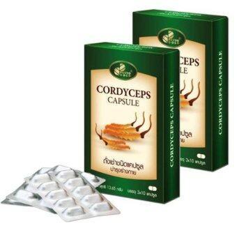 Phytogold Cordyceps plus licorice extract ถั่งเช่าผสมสารสกัดชะเอม 30 แคปซูล x 2 กล่อง เสริมสร้างภูมิคุ้มกันในร่างกาย