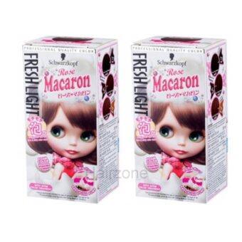 Schwarzkopf Freshlight Foam color - Rose Macaron95ml โฟมเปลี่ยนสีผมสีน้ำตาลชมพูมาคารูนจำนวน 2 กล่อง (กล่องรุ่นใหม่)