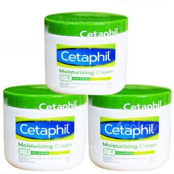 Cetaphil Moisturizing creamเซตาฟิล มอยส์เจอไรซิ่งครีม ผลิตภัณฑ์บำรุงผิวแล้วผิวกาย16 OZ (453กรัม) (3กระปุก)