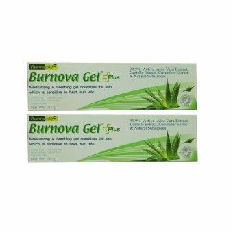 Burnova Gel Plus เบอร์นโนว่า เจล พลัส หลอดใหญ่ 70กรัม 2หลอด ช่วยลดริ้วรอย จุดด่างดำ ปราศจากแอลกอฮอล์ น้ำหอม แต่งสี กลิ่น