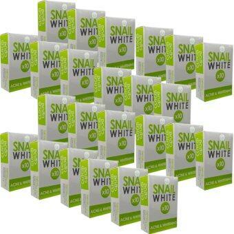 SNAIL WHITE X10 ACNE & WHITENING สบู่สีเขียว 70g. (แพ็ค 24 ก้อน)
