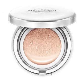 Sulwhasoo Perfecting Cushion Brightening #21 Medium Pink คูชั่นสุดหรูหราใหม่ล่าสุด !! ให้ความกระจ่างใสขึ้น ปกปิดบางเบา มีรีฟิลในกล่องอีก 15g รวมเป็น 30 g.