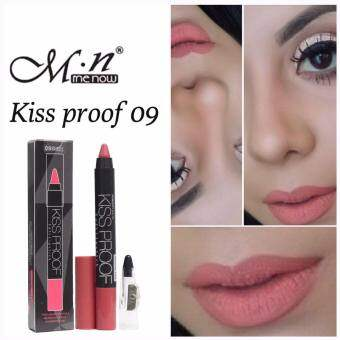 #No.09 คิสพรูฟ+กบเหลา Menow Kissproof Soft lipstick 4.2g.