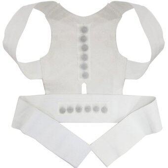 ideecraft เสื้อหลังตรง เสริมหลังตรง หุ่นดูดี บุคลิกดี Back Straight Posture ( สีขาว)