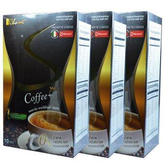Chame' Sye Coffee Plus ชาเม่ ซายน์ กาแฟลดน้ำหนัก เกรดพรีเมี่ยม บรรจุ 10 ซอง (3 กล่อง)