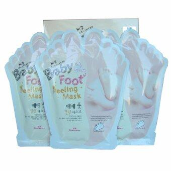 Baby Foot Mask เบบี้ ฟุท มาส์ก เท้านุ่ม เหมือนเด็ก แก้เท้าแตก เท้าหยาบ เท้าด้าน บำรุง และ ถนอมผิว เห็นผลจริง 3 ห่อ