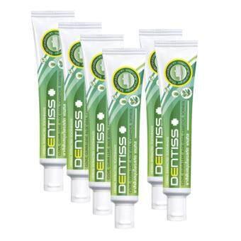 แพ็ค 6 ชิ้น / ยาสีฟันสมุนไพรสกัด เดนทิส Mistine Herbal Extracted Toothpaste Dentiss