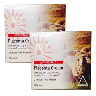 iRiS Anti-Wrinkle Placenta Cream ครีมรกแกะสูตรเข้มข้นนำเข้าจากออสเตรเลีย 80g ( 2 กล่อง)