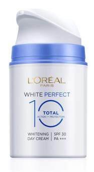ครีมบำรุงผิวหน้าเพื่อผิวกระจ่างใส ลอรีอัล ปารีส ไวท์ เพอร์เฟคท์ โททัล10 เดย์ ครีม 50มล. L'OREAL PARIS WHITE PERFECT TOTAL 10 DAY 50ML