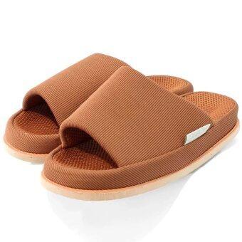 Refre OKUMURA Slippers รองเท้านวดเพื่อสุขภาพ รองเท้าเพื่อสุขภาพ รองเท้าใส่ในบ้าน สีน้ำตาลอมแดง(Size L)