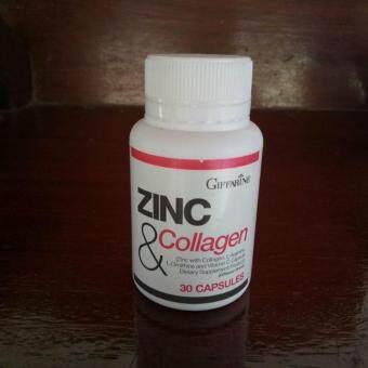 ซิงก์ แอนด์ คอลลาเจน (ผลิตภัณฑ์เสริมอาหาร ซิงค์ผสมคอลลาเจน,แอล-อาร์จินิน,แอล-ออร์นิทีนและวิตามินซี ชนิดแคปซูล) (ตรา กิฟฟารีน) 30 แคปซูล