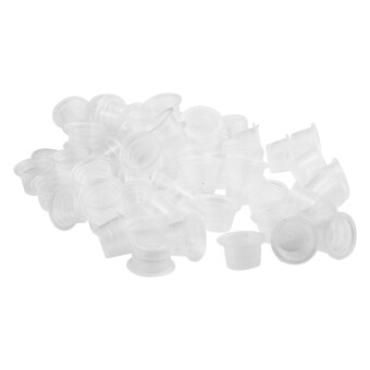 WiseBuy 200 พลาสติกไซส์กลางฝาถ้วยถือเสบียงสักหมึก
