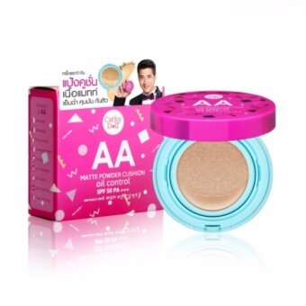 Cathy Doll แป้งคูชั่น เนื้อแมท 15g AA Matte Powder Cushion Oil Control #21 Light Beige