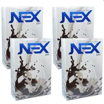 Kudson Exday NEXday เน็กซ์เดย์ Nex day ช็อคโกแลต (Ex day เอ็กซ์เดย์) ลดน้ำหนัก ช่วยให้อิ่มเร็ว เผาผลาญไว (10 ซอง) 4 กล่อง