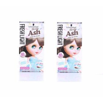 Schwarzkopf Freshlight Foam color Berry ASH 95ml สีน้ำตาลเทา ให้ประกายสีสว่างปานกลางระดับ 5(แพ็คคู่)