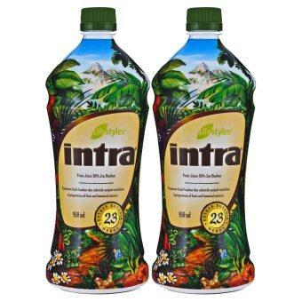 LifeStyles Intra อินทรา น้ำผลไม้เพื่อสุขภาพ 2 ขวด