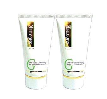 SMOOTH E Gold Anti-Aging & Whitening Facial Cleansing Foam 45 กรัม (2หลอด)