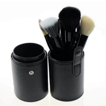ชุดแปรงแต่งหน้า brush set พร้อมกระบอกแปรง set 12 ชิ้น (สีดำ)