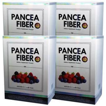 Pancea Fiber แพนเซีย ไฟเบอร์ ดีท็อกลำไส้ล้างสารพิษเพื่อให้ลำไส้เราทำงานได้ปกติ บรรจุ 7 ซอง (4 กล่อง)