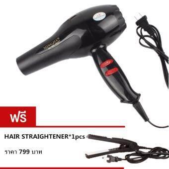 Crvid Hair dryer ไดร์เป่าผม เครื่องเป่าผมไฟฟ้า 1600W รุ่น NB-001001 (Black)ฟรี Mini Straight Hair NB-01002(Black)