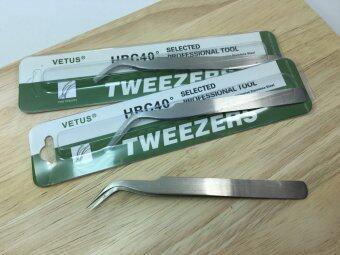 Vetus HCR40 แหนบด้ามเขียว ใช้ดึงทั้งสิวเสี้ยน สิวอุดตัน