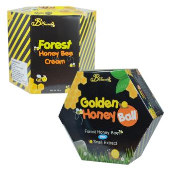 B'Secret ครีมน้ำผึ้งป่า แพคคู่ มาส์กลูกผึ้ง บี ซีเคร็ท ศาสตร์แห่งการฟื้นฟูผิวที่ดีที่สุด ผิวเนียนใสเด้ง เงาวาว (1 ชุด)
