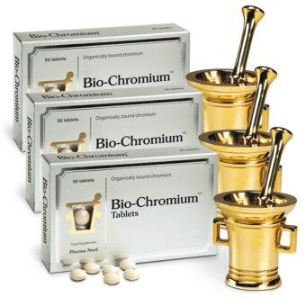 Pharma Nord Bio-Chromium ไบโอ-โครเมี่ยม ช่วยควบคุมระดับน้ำตาลในเลือด ลดความอ่อนล้า ลดน้ำหนัก 90 เม็ด x 3 กล่อง