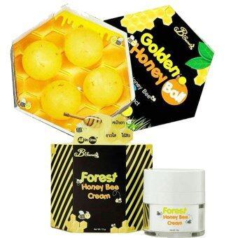 B'Secret Forest Honey Bee Cream ครีมน้ำผึ้งป่า บรรจุ 15 กรัม +B'Secret Golden Honey Ball มาส์กลูกผึ้ง บี ซีเคร็ท กลิ้งแล้วหนืด ยืดแล้วมาส์ก เพื่อผิวสะอาดเนียนใส ชุ่มชื้น (1 กล่อง)