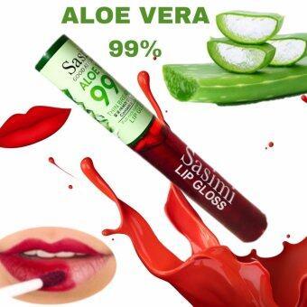 Sasimi Aloe vera 99% Lip tint ลิปทิ้นต์ เนื้อเจลเข้มข้น 10 ml.
