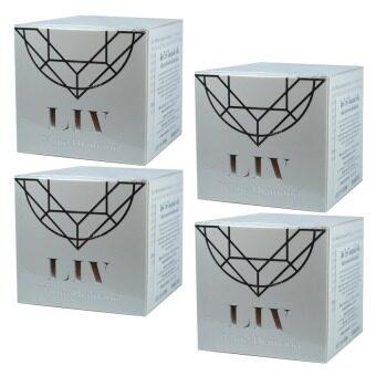 Liv White Diamond Cream ลิฟ ไวท์ ไดมอนด์ ครีม ครีมดีที่วิกกี้แนะนำ บำรุงผิวหน้าเนื้อครีมเข้มข้น 30 ml. (4 กล่อง)