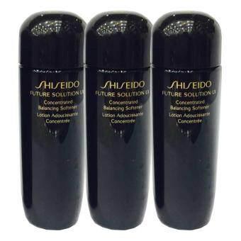 Shiseido Future Solution LX Concentrated Balancing Softener โลชั่นลดเลือนริ้วรอย 25ml. (3 ขวด)