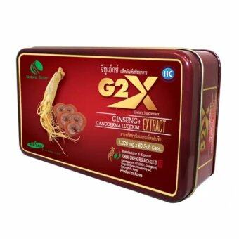 Linhzhimin G2X สารสกัดจากโสมและเห็ดหลินจือ เสริมสร้างภูมิต้านทาน ชะลอความแก่ บำรุงร่างกาย 1,020mg. บรรจุ 60 แคปซูล (1 กล่อง)